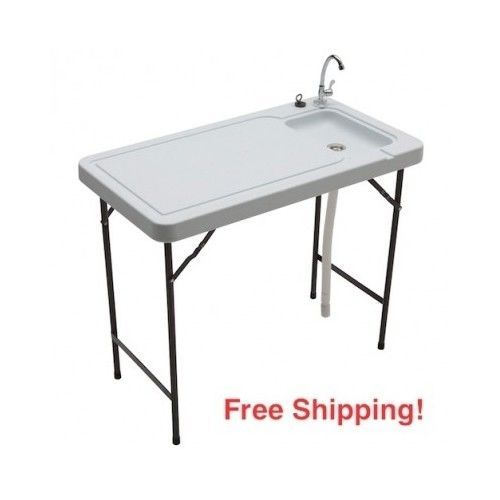 Game Cleaning Table Fish Hunters Portable Sink 150 Pound Capacity With Faucet #Game