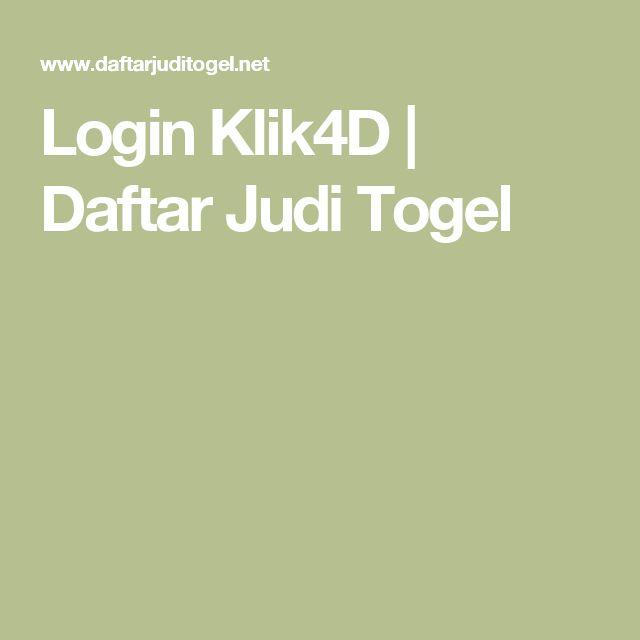 Login Klik4D | Daftar Judi Togel