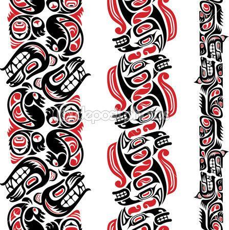 Patrón del tatuaje estilo Haida — Ilustración de stock #20403471