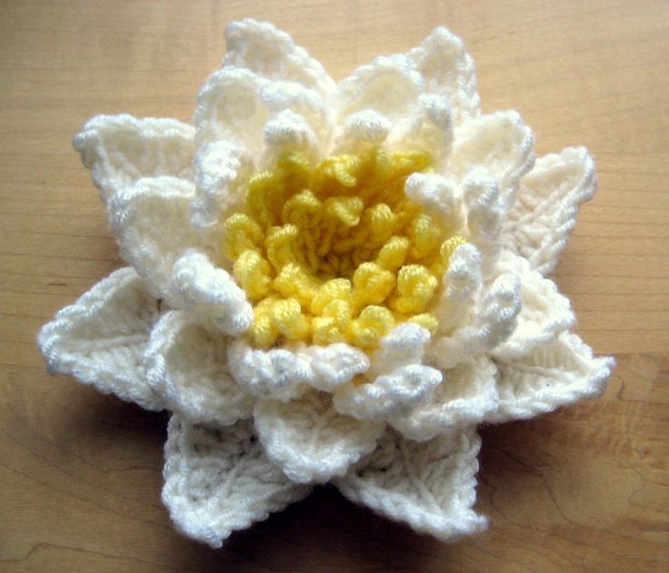 Water Lily (seamless) - free crochet pattern by Esther Chandler