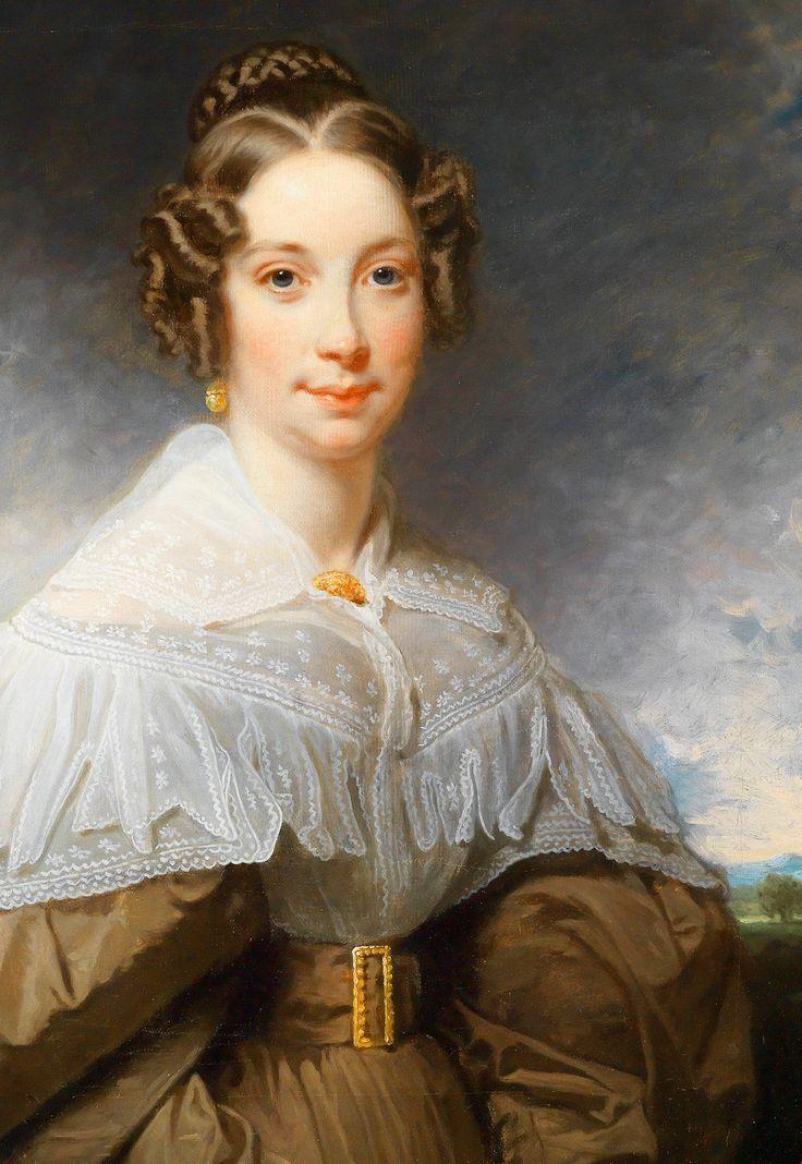 Portrait of a Lady set against a Landscape, 1830.