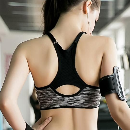 f3b8c6ef29 Women Fitness Yoga Sports Bra For Running Gym Adjustable Spaghetti Straps  Padded Top Seamless Top Athletic Vest S M L