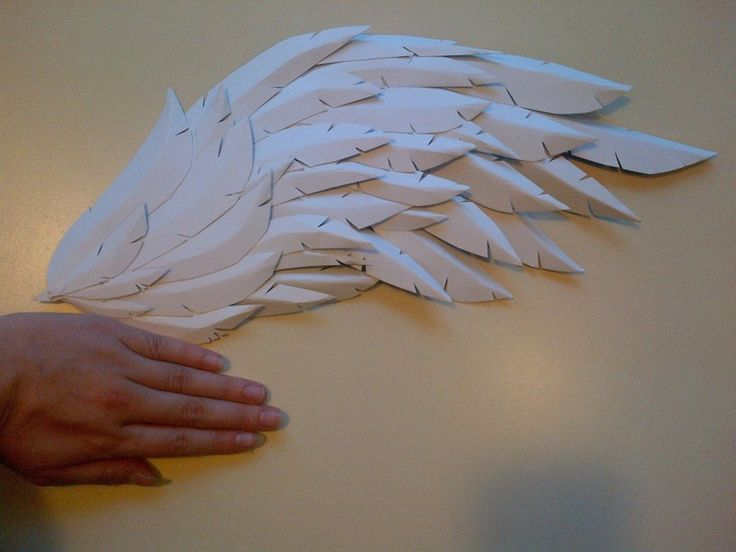 How to make a wing. Paper/Craft Foam Wings - Step 7