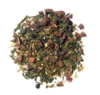 Chocolate green tea. Must try! (wasn't that great. Not enough chocolatey zing)