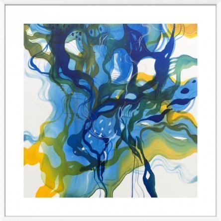 John Martono 'Summertime Blues'   Framed Art print