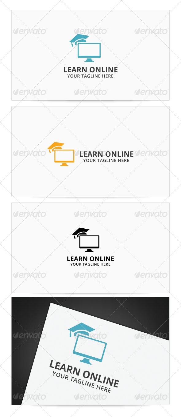 Learn Online  - Logo Design Template Vector #logotype Download it here: http://graphicriver.net/item/learn-online-logo/8072710?s_rank=75?ref=nexion