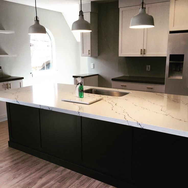 Island: Pental Quartz Avenza Perimeter: Pental Quartz Altea The Elite  Kitchen Artists Highendcountertops.