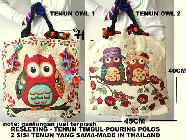 Tenun bag owl $25 usd