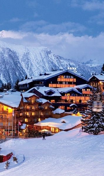 The ski-resort village of Courchevel 1850 in the French Alps. FRANCE