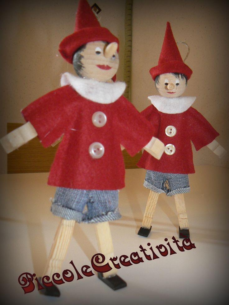 Buon autunno a tutti!!!!!!!!!!!!!!!!!!!!!     Oggi vi voglio mostrare dei pinocchietti fatti l'anno scorso per gli animatori del campo sc...