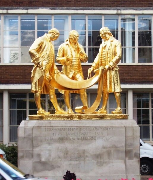 Birmingham brains - Matthew Boulton, James Watt and William Murdock (thank you Maureen)