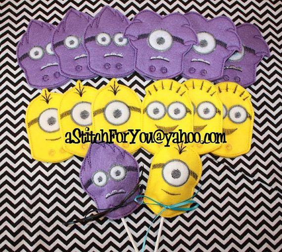 Sucker cover lillipop candy both purple minion in the