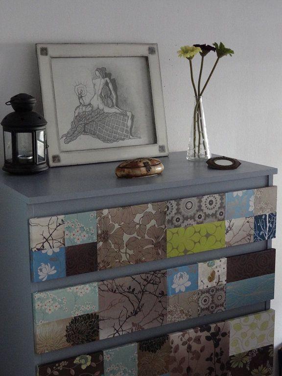 Las 25 mejores ideas sobre papel pintado damasco en pinterest y m s ba o de estilo damasco - Muebles pintados en plata ...