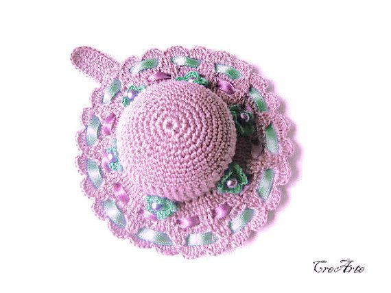 Crochet Pincushion Purple Pincushion Handmade by CreArtebyPatty