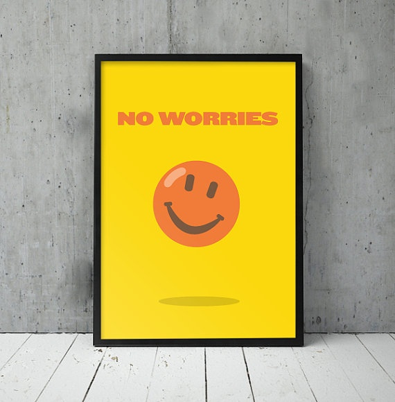 A  Z of Aussie Slang  Prints  No Worries by Peacokle on Etsy