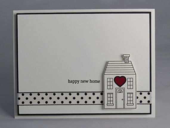 Congratulate A New Homeowner With A Handmade New Home Card. This Black And  White Card