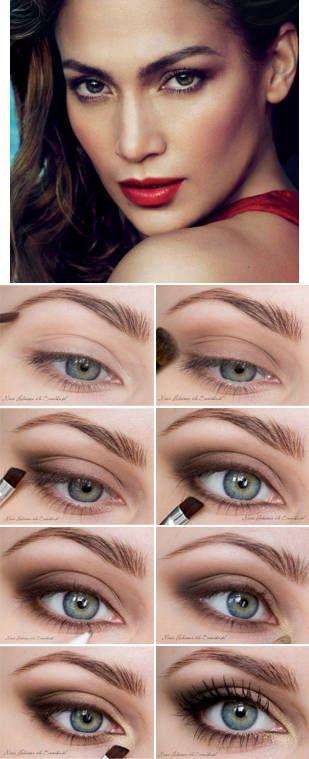 Makeup inspired by Jennifer Lopez (Vogue)