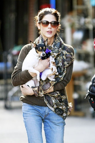 Ashley Greene and her dog Marlow