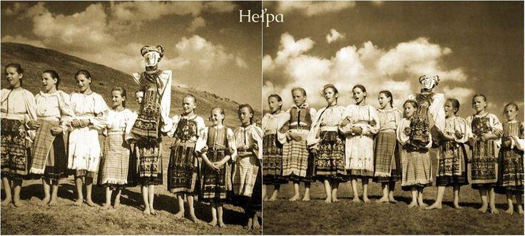 Heľpa, vynášanie Moreny na jar, r.1931 - Karol Plicka