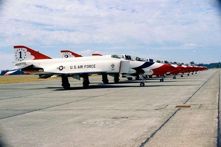 https://flic.kr/p/SvgkGK | Randle Curtis Conrad | The USAF demonstration team, flying McDonald Douglas F-4E Phantom IIs