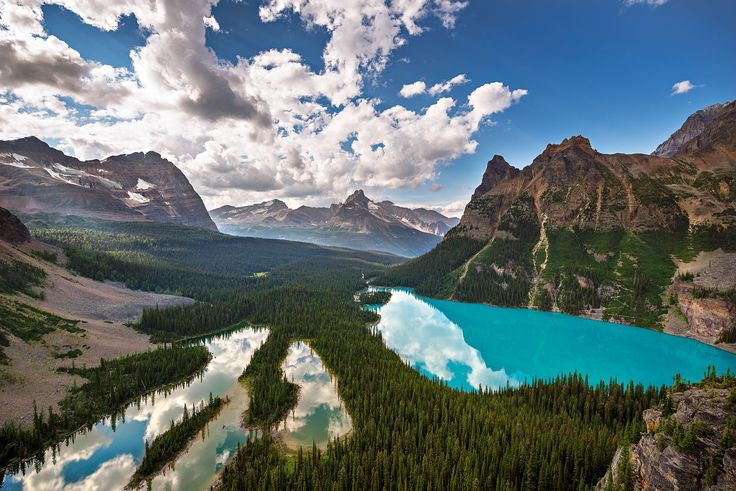 Mary Lake and Lake O'Hara as seen from the Opabin Prospect.