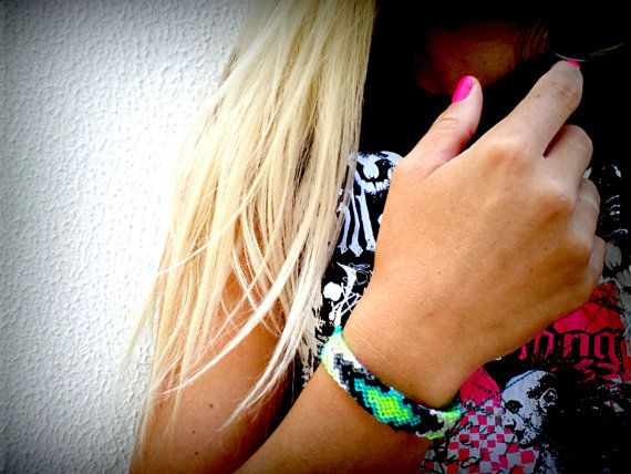 Friendship Bracelet Limes & Grays by makunaima on Etsy, $15.90