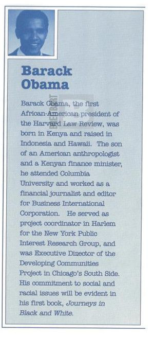 FORGERY-GATE 1991 Obama was stamped 'Born in Kenya' Literary agent's bio describes him as African, 'raised in Indonesia and Hawaii'