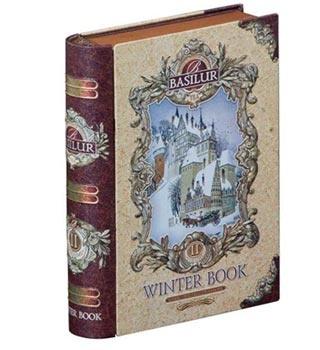 Basilur Te bog dåse med indhold af julete. Smart og sjovt design af en dåse til te.