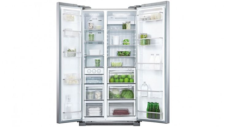 Fisher & Paykel 628L Side by Side Fridge - Stainless Steel  Product Height (cm) 179.5 Product Width (cm)	91 Product Depth (cm)	70