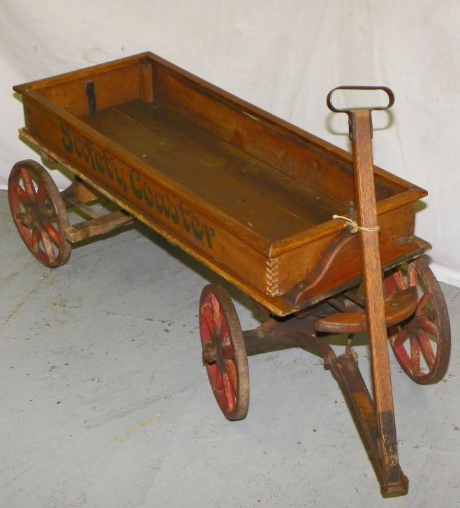 Vintage wooden Wagon. I love these old toys.I have several I use to ...
