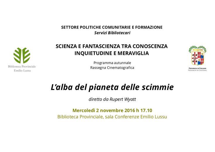 Prosegue la programmazione della rassegna culturale Scienza e fantascienza tra conoscenza, inquietudine e meraviglia, promossa dalla Biblioteca Provinciale di Cagliari nell'ambito dei programmi di …