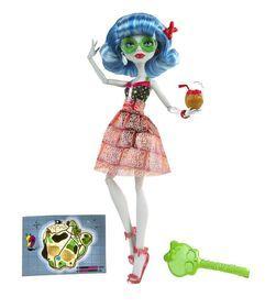 Mattel, Monster High, Upiorni Plażowicze, Ghoulia Yelps, lalka