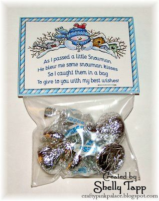 The Crafty Pink Palace & Kitty Kat Tales: Snowman Kisses                                                                                                                                                                                 More