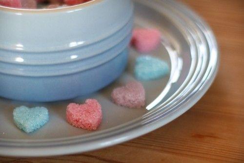 Hjemmelavede sukkerhjerter / DIY sugar hearts