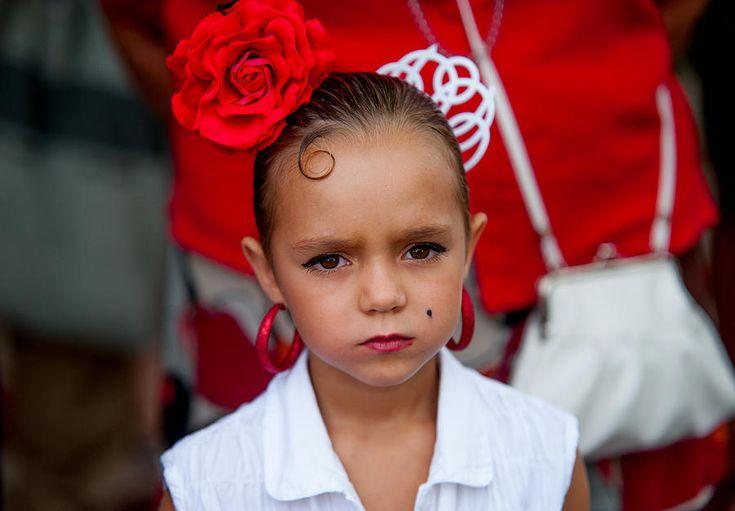 Little Carmen. Romeria Celebration In Torremolinos. Spain by Jenny Rainbow