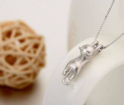 """Cute """"Tawny"""" the Cat Necklace from eFizzle"""
