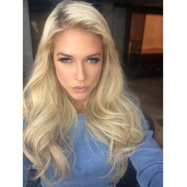 "Barbie Blank on Instagram: ""#tbt to this gorgeous hair and makeup by @stylemeelvi for #WAGS interviews! #nofilter ?"" featuring and polyvore,"