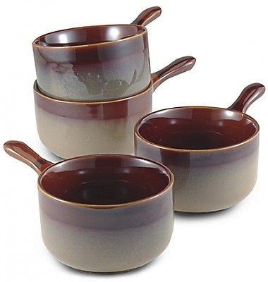 Onion-Bowl-Set-Of-4-Ceramic-Soup-Bowls-French-Mini-Crocks-Stoneware-Dinnerware