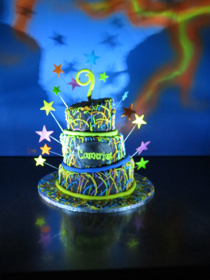 Laser Tag Birthday Party Cake  Laser Tag Party  Pinterest