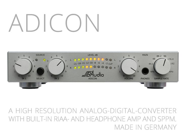 ADICON analog-to-digital converter for HiFi-enthusiasts's video poster