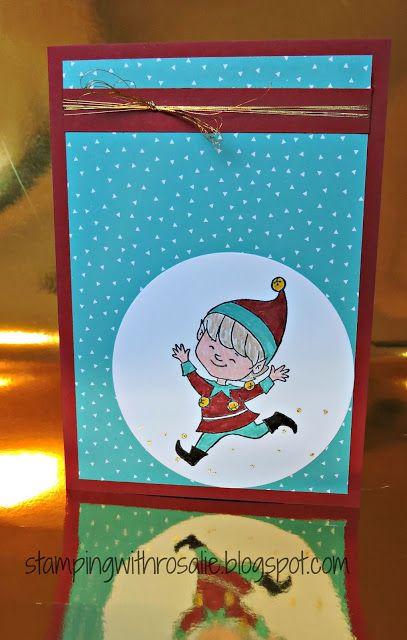 Cute for Christmas - A sneak peek, Christmas Cuties, Stampin' Up!, Challenge, Christmas card, Christmas Elf, Rosalie Desmond