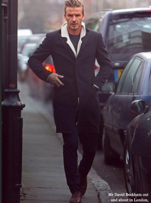 David Beckham wearing a Crombie overcoat. View our collection http://www.philipbrownemenswear.co.uk/brand/crombie.aspx