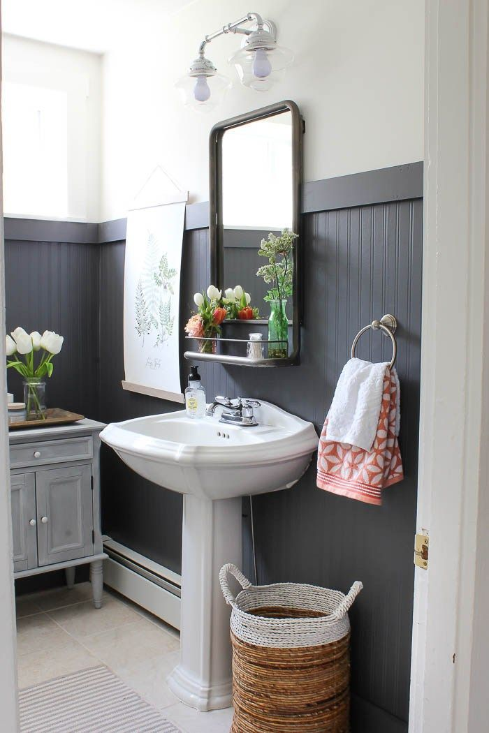 Bathroom Makeovers With Wainscoting best 25+ black wainscoting ideas on pinterest | guest bathroom