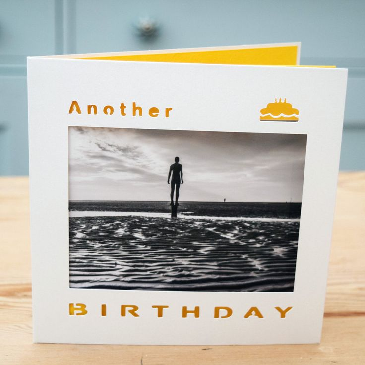A personal favourite from my Etsy shop https://www.etsy.com/uk/listing/495269554/birthday-card-another-place-crosby-beach