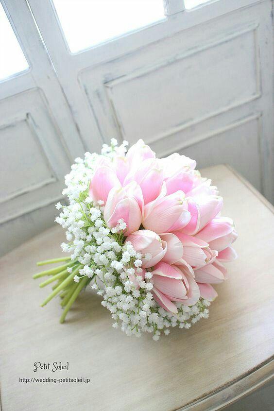 Годовщину свадьбы, нежный букет невесты из тюльпаны и розы