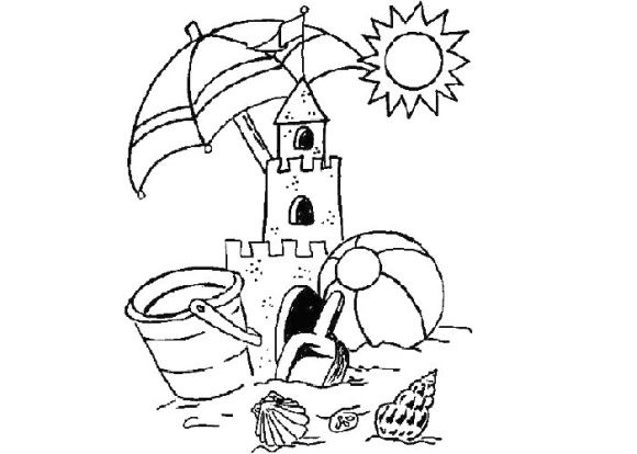 Sandcastle Coloring Page Coloring Pages Castle Coloring Page