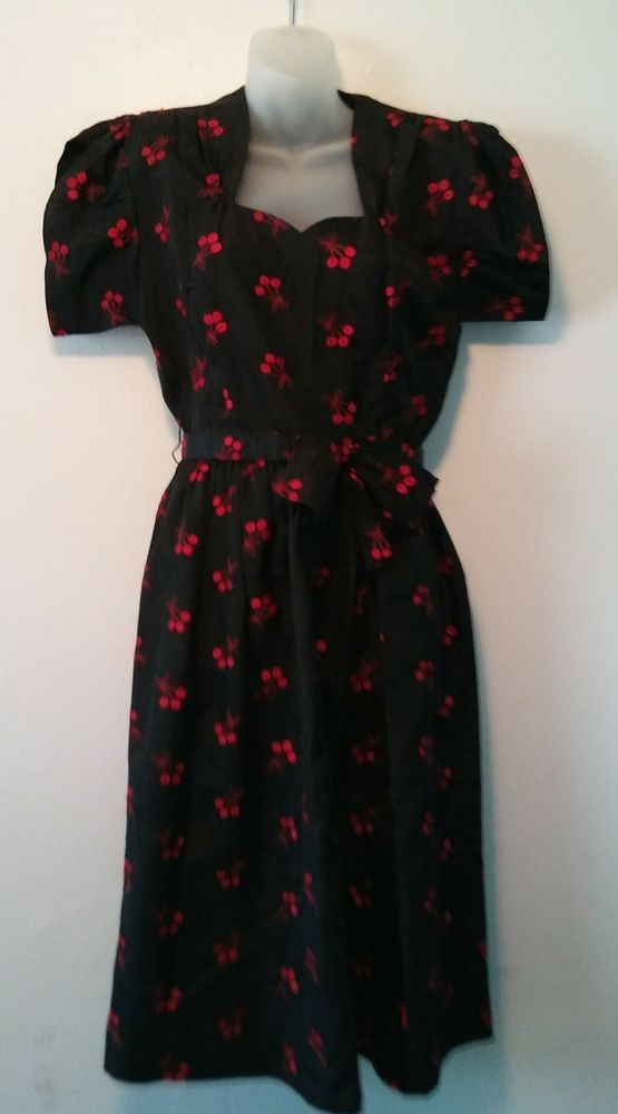 #Vintage #Cherries #Dress #Sweetheart #Rockabilly #Swing #Pinup #USO 40s #Dance #bigband | Clothing, Shoes & Accessories, Women's Clothing, Dresses | eBay!
