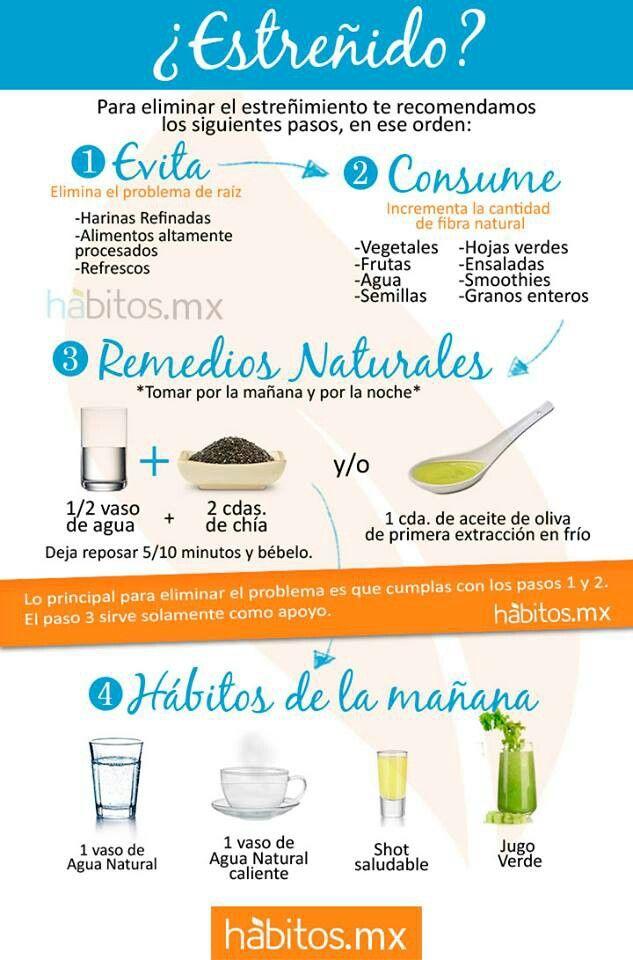 Remedio natural para el estreñimiento. #salud #bienestar