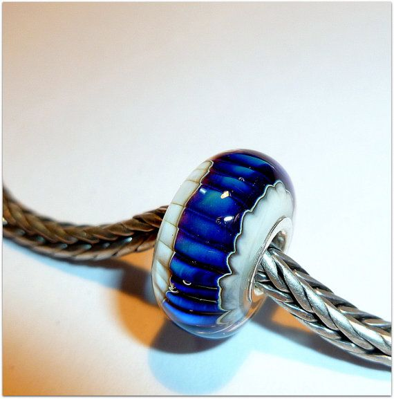 luccicare beads | Luccicare Lampwork Bead - Path - Lined with Sterling Silver