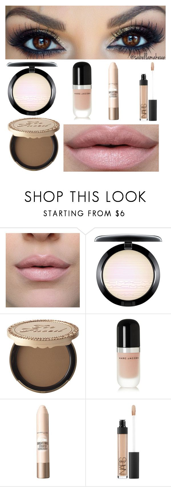 """Full face makeup"" by imagine-5sos-1d ❤ liked on Polyvore featuring beauty, MAC Cosmetics, Too Faced Cosmetics, Marc Jacobs, Maybelline, NARS Cosmetics and Imagine5sos1d_Sets"